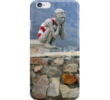 Girl in bathing suit sculpture iPhone Case/Skin