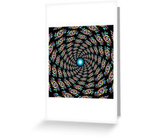 Psychedelic eyes mandala 15 Greeting Card