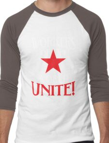 Workers of the World Unite - Red Star & Slogan Men's Baseball ¾ T-Shirt