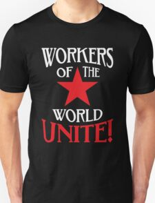 Workers of the World Unite - Red Star & Slogan T-Shirt