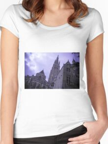 Mysterious Church - Travel Photography Women's Fitted Scoop T-Shirt