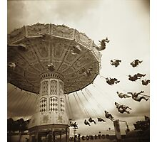 Theme Park Chair Ride Photographic Print