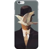 The Man In The Bowler Hat -Magritte- iPhone Case/Skin