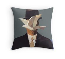 The Man In The Bowler Hat -Magritte- Throw Pillow