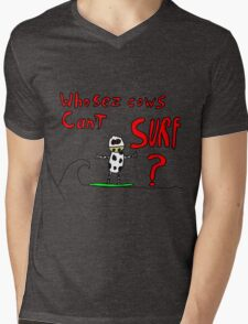 Who sez cows can't surf Mens V-Neck T-Shirt