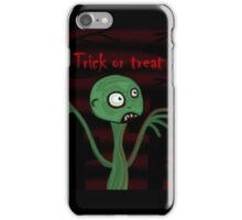 Halloween - green monster iPhone Case/Skin