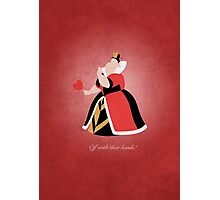 Alice in Wonderland inspired design (Queen of Hearts). Photographic Print