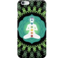 Young woman practicing meditation 11 iPhone Case/Skin