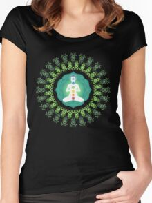 Young woman practicing meditation 11 Women's Fitted Scoop T-Shirt