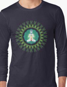 Young woman practicing meditation 11 Long Sleeve T-Shirt