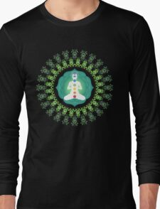 Young woman practicing meditation 11 T-Shirt