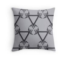 Triangle Grayscale Throw Pillow