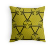 Triangle Halftone Yellow Throw Pillow