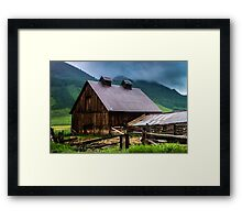 A Barn In Credted Butte Framed Print