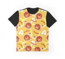 African pattern with cute lion. Graphic T-Shirt