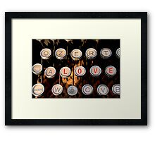love on old typewriter Framed Print