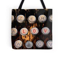love on old typewriter Tote Bag