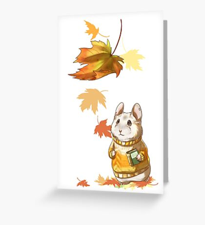 Autumn Hamster Greeting Card