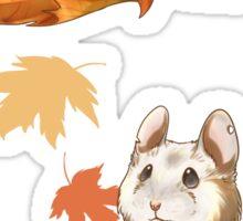 Autumn Hamster Sticker