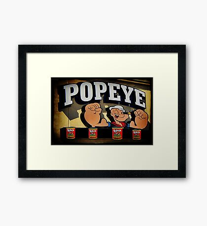Popeye A Favorite Memory Of Mine Picture Card ect..17 SALES Framed Print