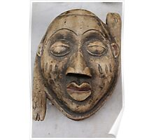 wooden mask Poster