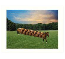 (✿◠‿◠)  HORSE LIMO RIDES SEVEN LETS RIDE LOL (✿◠‿◠) Art Print