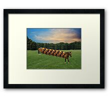 (✿◠‿◠)  HORSE LIMO RIDES SEVEN LETS RIDE LOL (✿◠‿◠) Framed Print