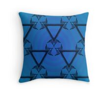 Triangle Vertigo Blue Throw Pillow
