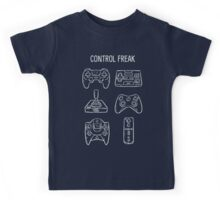 Control Freak Video Game Controller T Shirt Kids Tee
