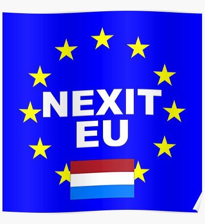 NEXIT Nederlands Holland leave EU Poster