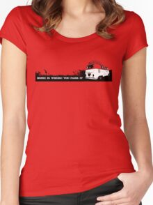 Home is where you park it. Women's Fitted Scoop T-Shirt