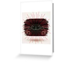 Abstract,modern,dark,contemporary art,hand painted, Greeting Card