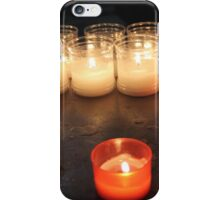candles in the church iPhone Case/Skin