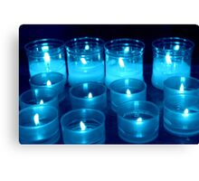 candles in the church Canvas Print