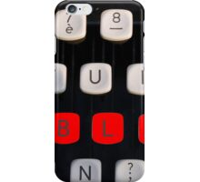 blog on old typewriter iPhone Case/Skin