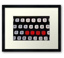 blog on old typewriter Framed Print
