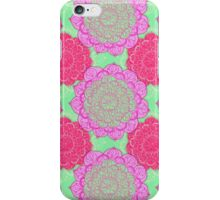Mint, Magenta & Radiant Orchid Mandala Pattern iPhone Case/Skin