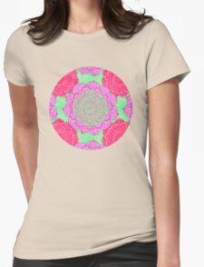 Mint, Magenta & Radiant Orchid Mandala Pattern T-Shirt