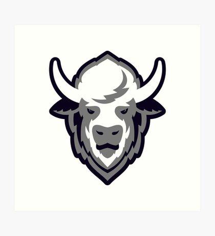 Buffalo Head Mascot Emblem. Art Print