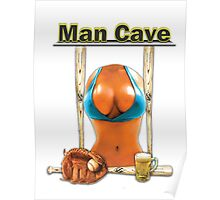 Man Cave Baseball version 2 Poster