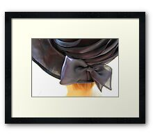 old woman's hat Framed Print