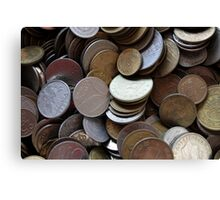 old coins Canvas Print