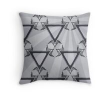 Triangle Sunburst Gray II Throw Pillow