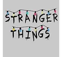Stranger Things Fairy Lights Photographic Print
