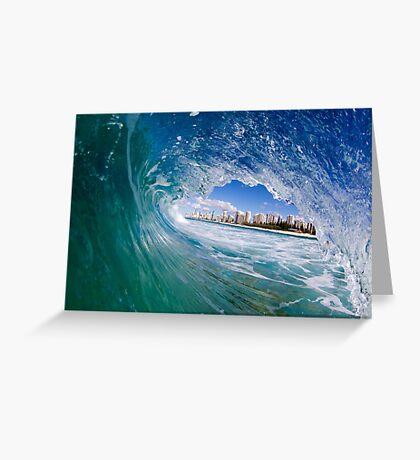 concrete horizon Greeting Card