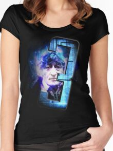 Dr Who The Third Doctor Jon Pertwee T-Shirt Women's Fitted Scoop T-Shirt