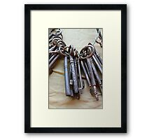 old keys Framed Print