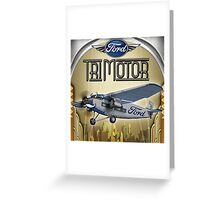 "WINGS Series ""Tri Motor"" Greeting Card"