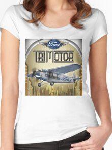 "WINGS Series ""Tri Motor"" Women's Fitted Scoop T-Shirt"