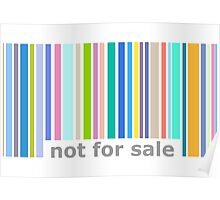 Not For Sale Barcode - Colorful Poster